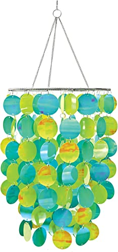 WallPops WPC0330 Pearl Blue Green Chandelier, 10