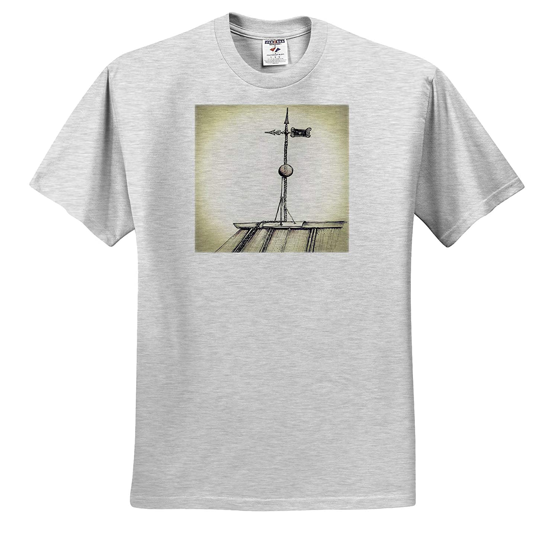 ts/_319903 Vintage Lightning Rod ATOP Farmhouse 3dRose Amanda Levermann Vintage Adult T-Shirt XL