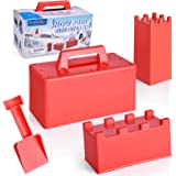 FUN LITTLE TOYS 4 Pieces Snow Toy Molds, Sand Castle Molds for Winter Outdoor Snow Fun, Beach Toy Molds
