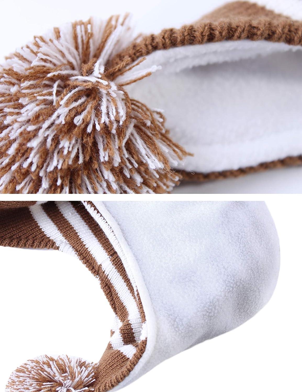 beb/és suaves forro de lana Sombreros y pa/ñuelo Hawiton Caliente Conjunto de Gorro y Bufanda de punto 2 piezas para ni/ñas y ni/ños oto/ño invierno