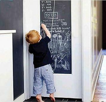 Pegatina de pizarra para pared, para restaurantes, oficinas, decoración de hogar, cocina, salón, dormitorio, con 5 tizas de colores, 200 cm x 45 cm