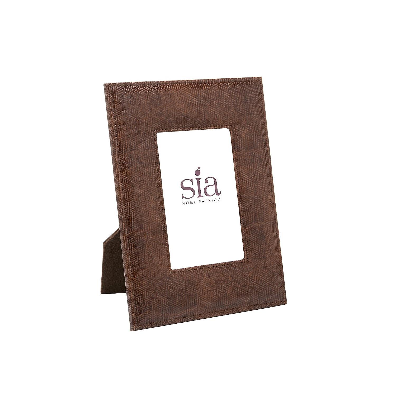 Sia home fashion 18 x 24 cm faux leather lezard photo frame brown sia home fashion 18 x 24 cm faux leather lezard photo frame brown amazon kitchen home jeuxipadfo Images