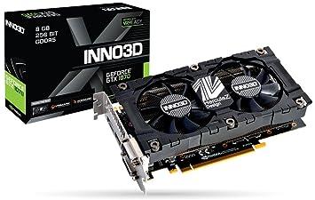 Inno3D N1070-2SDV-P5DS - Tarjeta gráfica (GeForce GTX 1070, 8 GB ...