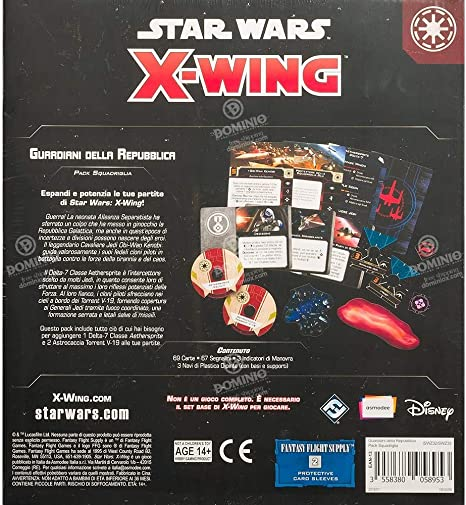 Asmodee Italia - Star Wars X-Wing Guardianes de la República, Color 9957: Amazon.es: Juguetes y juegos