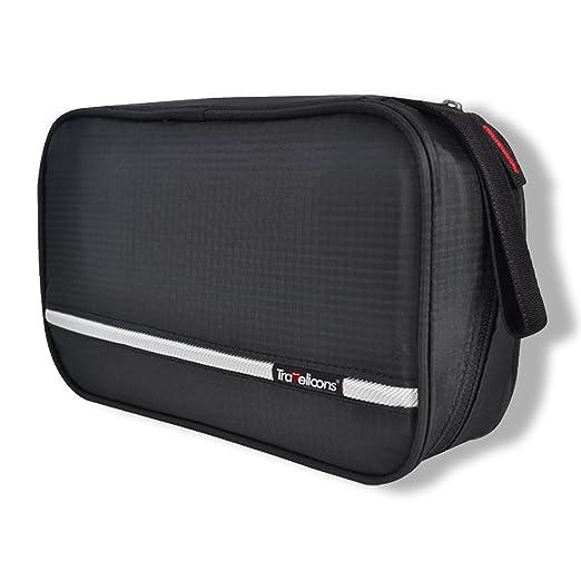 Maxchange Neceser de Viaje para Colgar, 4 Compartimentos Impermeable Plegable Bolsa de Aseo, Organizador para Negocios Viajes Vacaciones Actividades al Aire ...