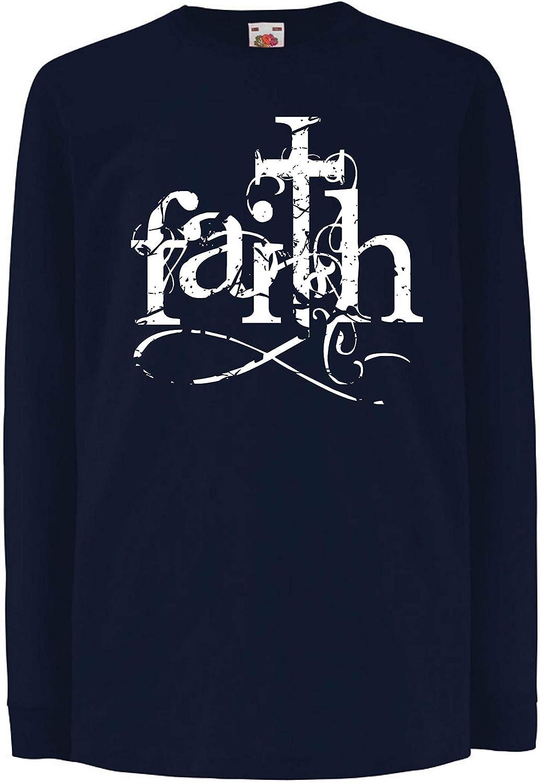 lepni.me Camiseta para Niño/Niña La fe en el Dios Jesucristo ...