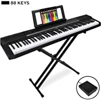 Best Choice Products 88-Key Full Size Digital Piano Electronic Keyboard Set w/Semi-Weighted Keys, Stand, Sustain Pedal, Built-In Speakers, Power Supply, 6 Voice Settings