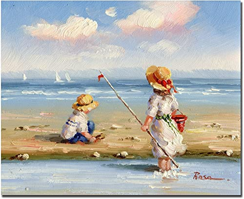 At the Beach III by Master s Art, 26×32-Inch Canvas Wall Art