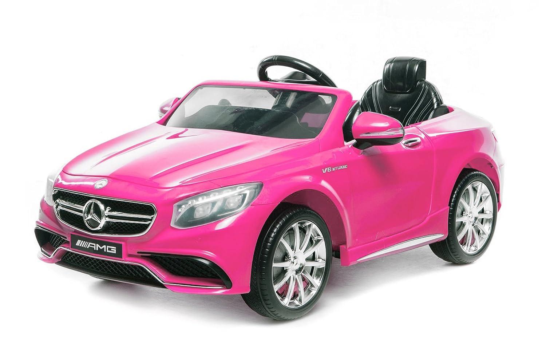 Licencia eléctrico infantil para coche Mercedes S63 AMG 2 x 35 W   12 V   MP3   RC