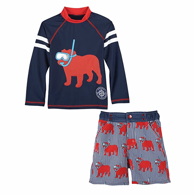 3c878810a1 Andy & Evan Snorkel Dog Rashguard and Swim Trunks 2 Pc Set - Baby and Boys  Size 18/24 Months: Amazon.in: Clothing & Accessories