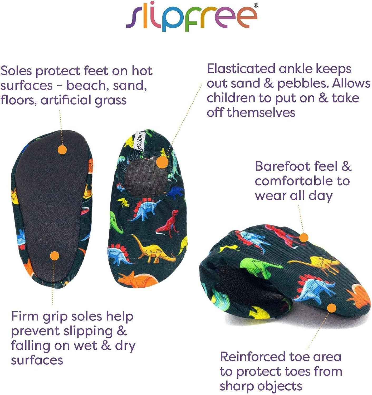 Medium Boys Non-Slip UPF50+ Barefoot Swim Shiver Slipfree Water Shoes for Beach Pool and Home
