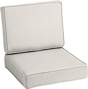 Arden Selections ProFoam Sand Acrylic Deep Seat Set Cushion