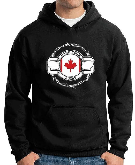 T-Shirtshock - Sudadera Hoodie TRUG0099 canada rugby logo, Talla S