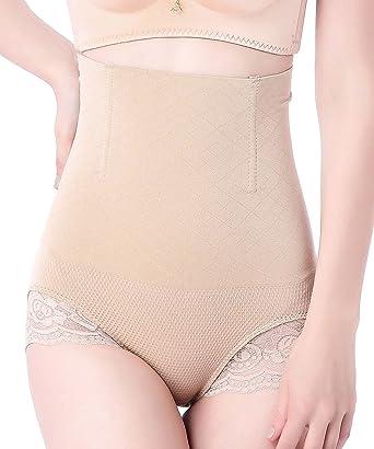 7da9ee32b1b MyTeng Women s High-Waist Shapewear Seamless Tummy Control Body Shaper (Tag  M L