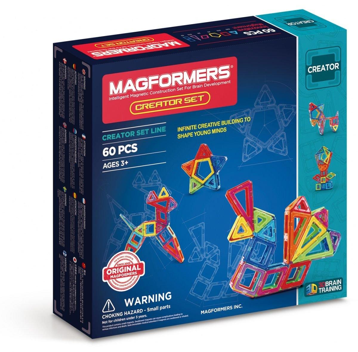 Magformers Fr – 703006 – Creator Set – 60 Piezas