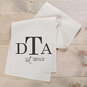 Personalized Monogram Table Runner, home decor, present, housewarming gift, tablewear, table scene, place setting, set the table