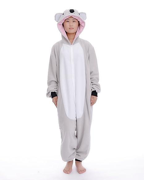 DAYAN Koala Unisex Pijamas Adulto Anime Cosplay Ropa Pijamas Franela Hombre Mujer Dormir Animal Pyjama Caliente