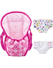 """ZOEON Baby Doll Carrier Backpack and Nappies, Doll Accessories Set for 18"""" Dolls (40-45cm) (1)"""