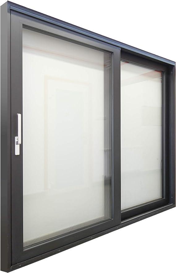 Puerta de balcón HST de aluminio, puerta corredera HST, 2500 x 2200 mm, acristalamiento térmico de 3 capas, color antracita: Amazon.es: Bricolaje y herramientas