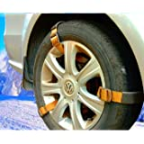 Newest Easy Snow Tire Chains Heavy Duty for Truck Pickup SUV Car Van ATV Jeep Honda Toyota Nissan VW Ford Mercede Benz…