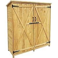 Armario de jardín con 2 puertas, 1400x500x1620, cobertizo