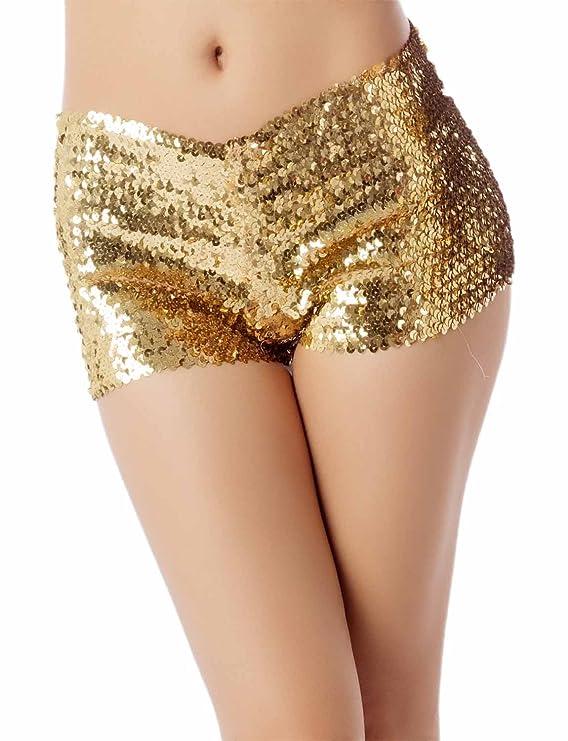 Pantalones Cortoscon lentejuelas ideal para fiestas