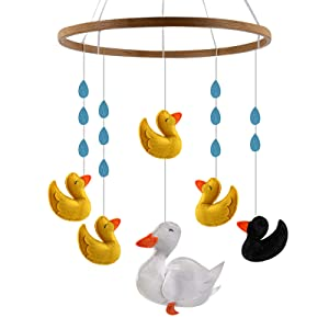 Baby Crib Mobile for Boy or Girl - Mobiles Gifts for Nursery Decor Stroller Or Above Changing Table - Perfect Baby Shower Gifts Or Christmas Newborn Toys (Ugly Duckling)