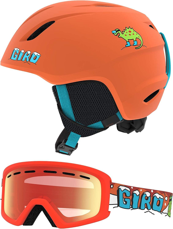 Giro Launch Combo Pack Kids Snow Helmet w Matching Goggles