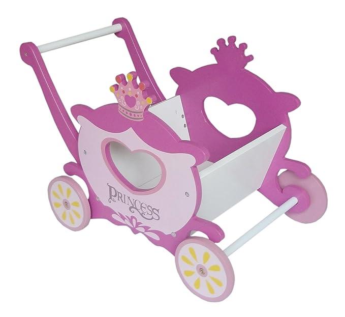 Kiddi Style Caja de Juguetes Andador Diseño Carroza de Princesas - Madera - Par ninos