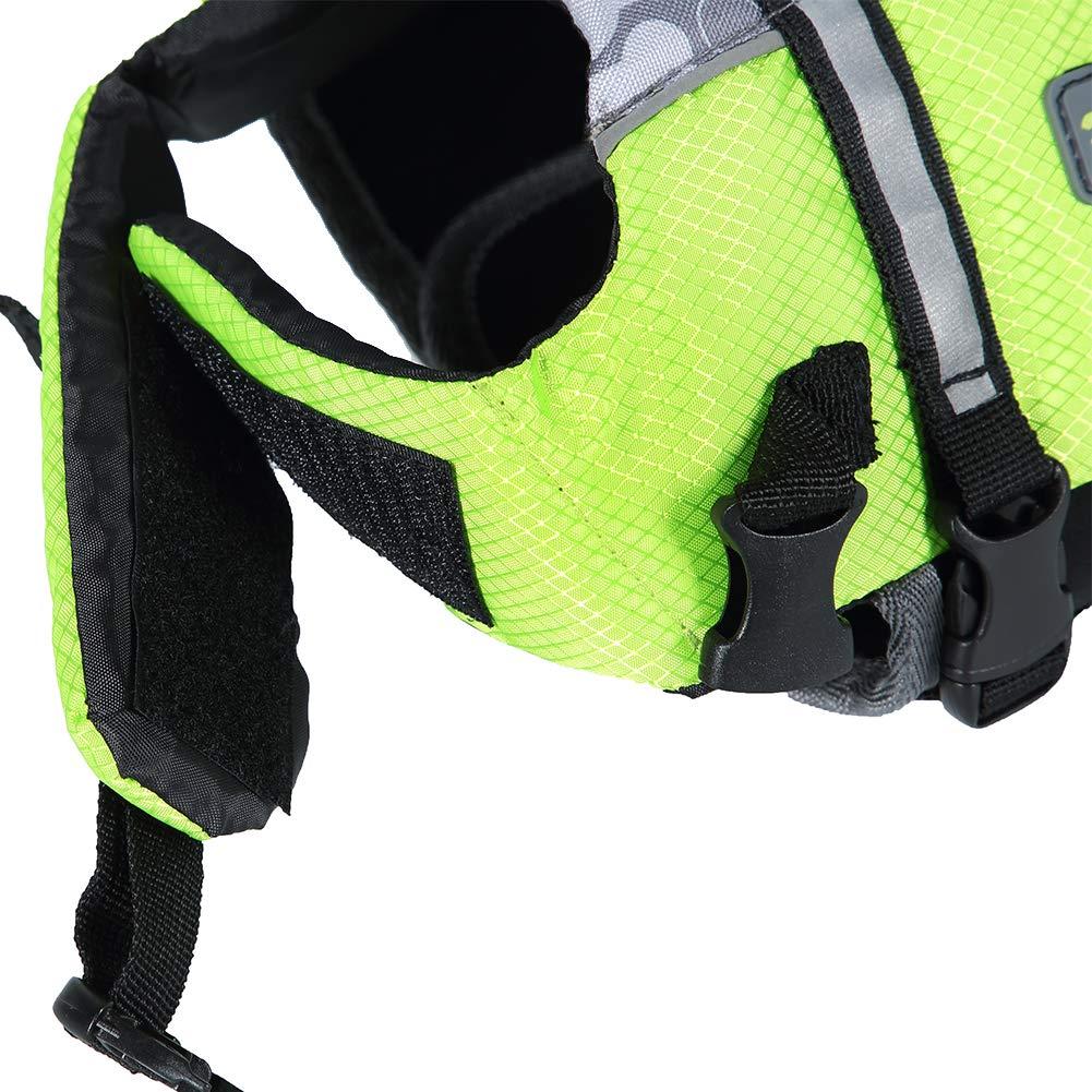 Wellver Dog Life Jacket Pet Life Preserver Saving Vest with Reflective Strips