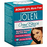 Jolen 1 Ounce Creme Bleach Mild Plus Aloe Vera (29ml) (2 Pack)