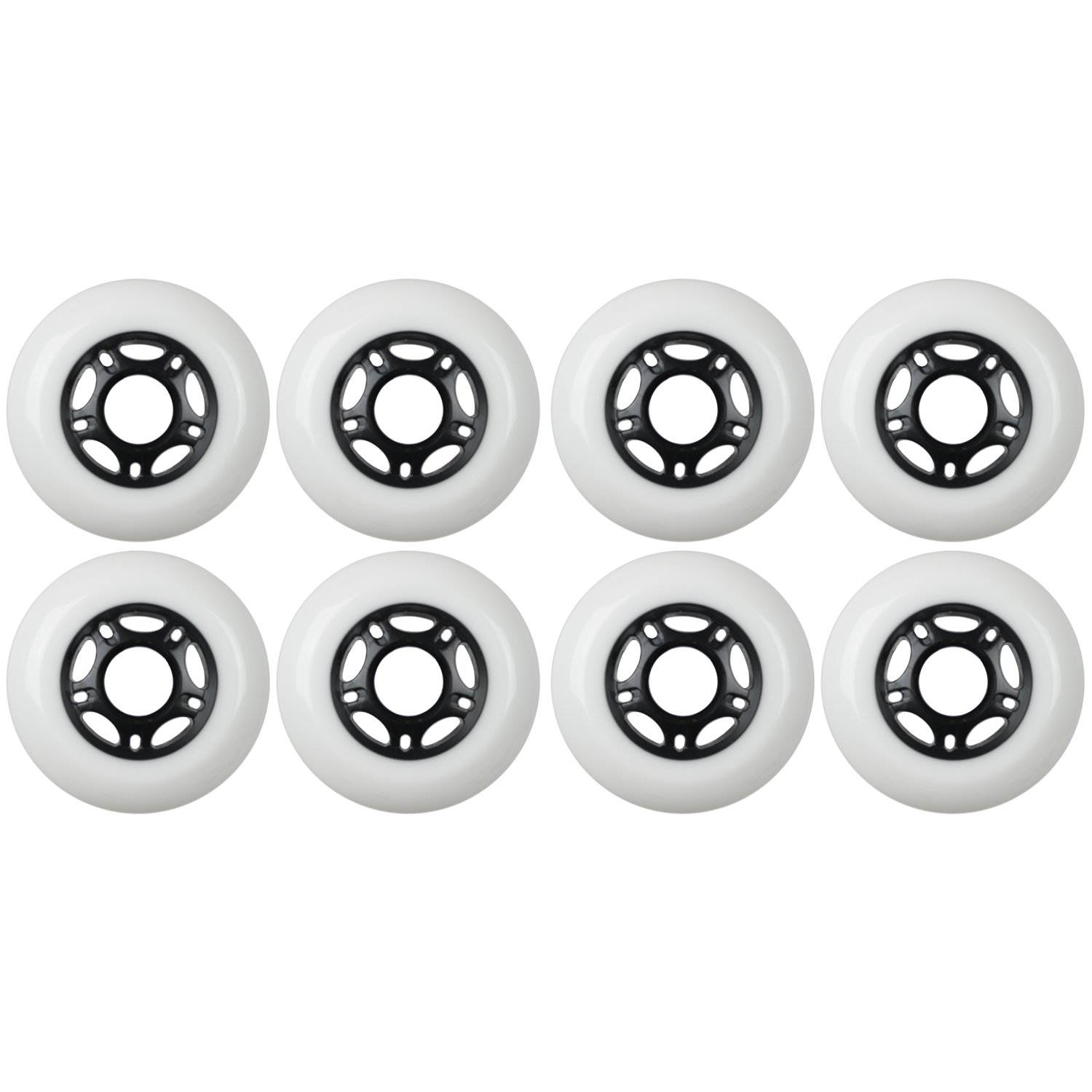 KSS Outdoor Asphalt Formula 89A Inline Skate X8 Wheels, White, 72mm by KSS