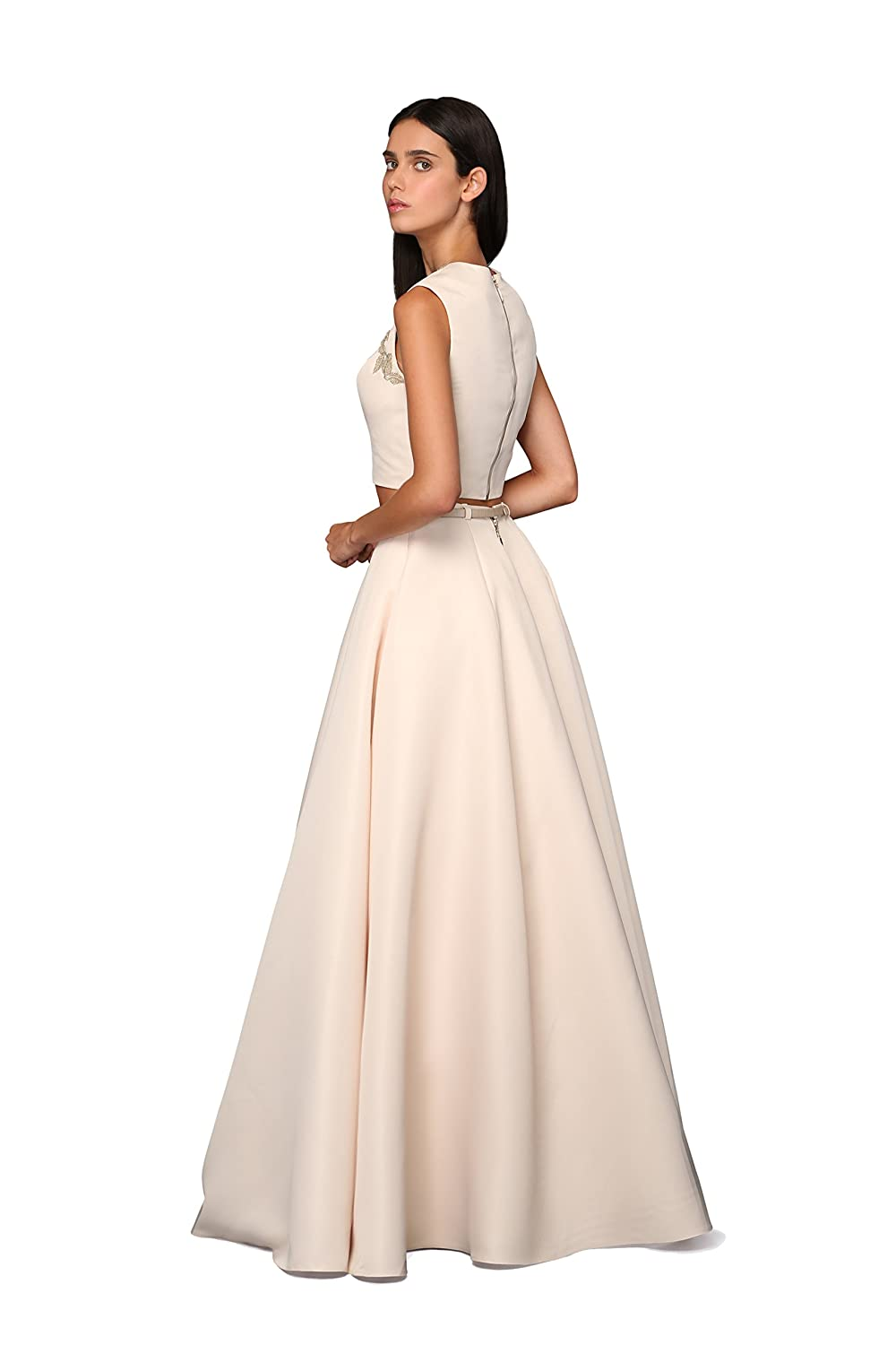 OXCIIS AUSTRALIA Priya Nude Matt Satin Dress Ball Gown Evening Dress Bridesmaid Dress Long Prom Gown at Amazon Womens Clothing store: