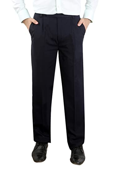 Style Spot Mens Ever Press Trouser Formal Pants Premium Material Regular Fit Ideal for Casual Wear