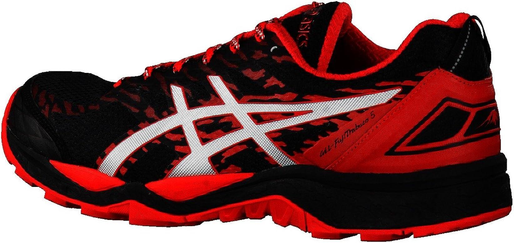Asics GEL FUJITRABUCO 5 NEGRO ROJO T6J0N 9023: Amazon.es: Zapatos y complementos