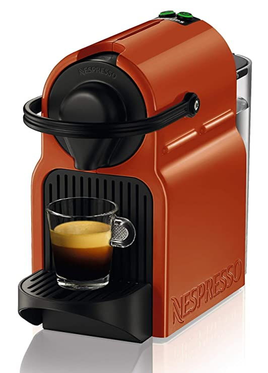 Nespresso Krups Inissia XN100F Orange Independiente Máquina ...