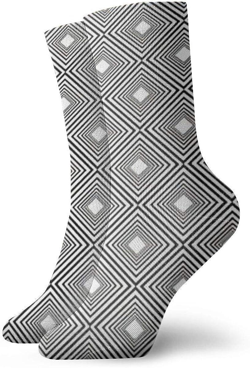 Tammy Jear Calcetines casuales, cuadrado concéntrico