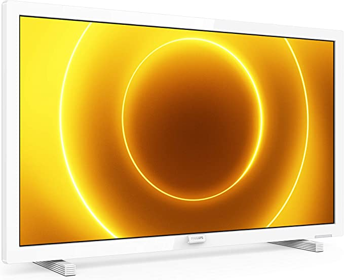 Televisor Philips 24PFS5535/12 24 Pulgadas (60 cm) TV LED (Full HD, Pixel Plus HD, Entrada de 12 V, HMDI, VGA, USB), Color Blanco (Modelo 2020/2021): Amazon.es: Electrónica