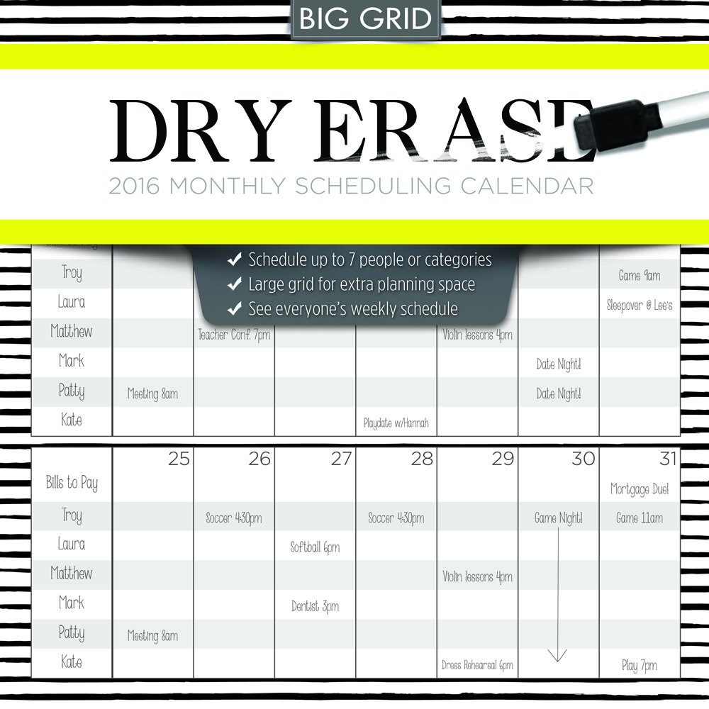 2016 Dry Erase Wall Calendar product image