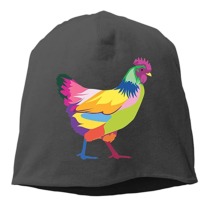 0c637ba8201 HFJS JDJG Colorful Chicken Unisex Skull Hat Knitted Hat Beanie Hats Cap for  Winter at Amazon Men s Clothing store