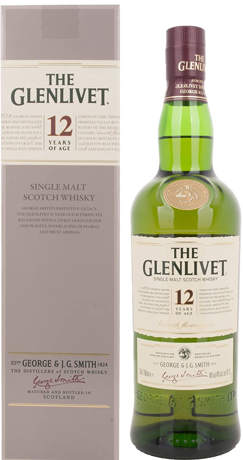 glenlivet 12 year old scotch malt whisky 70 cl amazon co uk grocery