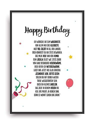 Geschenk Karte Geburtstag Kunstdruck Happy Birthday Bild Ohne Rahmen