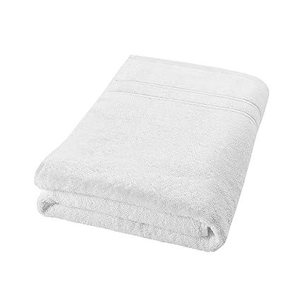 DECOLICIOUS - Toalla de baño 100% algodón Peinado - 550gr/m2 - Blanco -