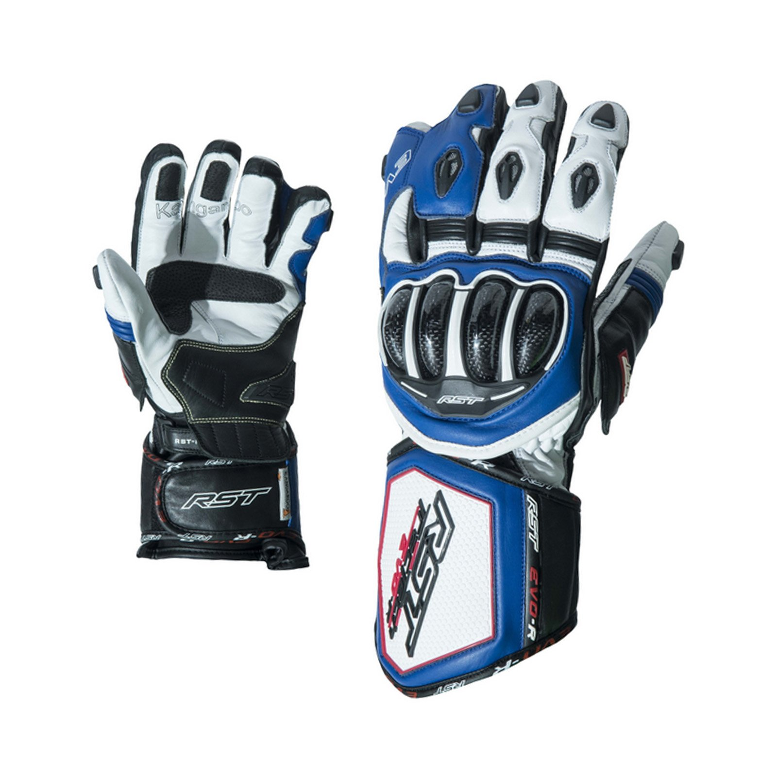 RST 2092 Tractech Evo R Race Sports Leather Aramid Motorcycle Gloves - Blue L