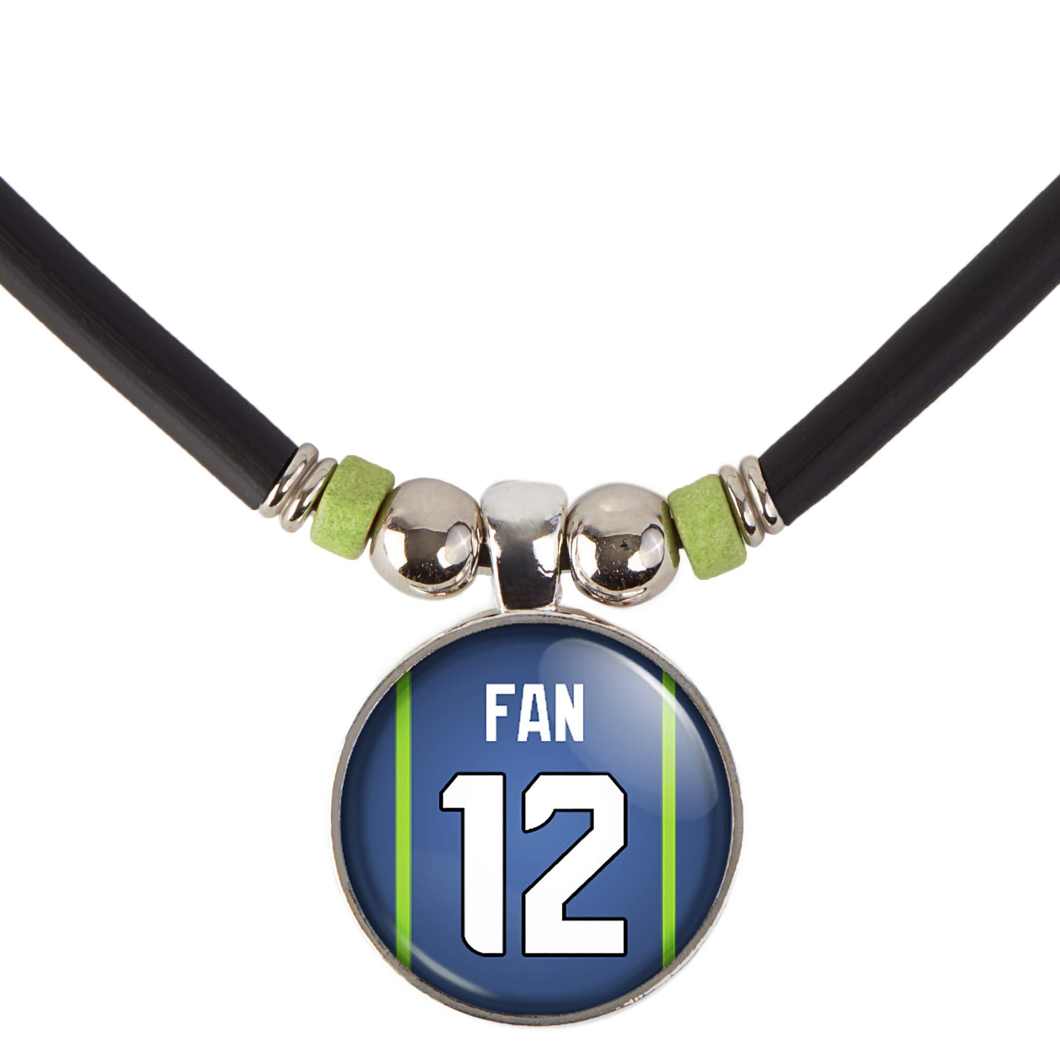 SpotlightJewels Seattle Football Jersey #25 3D Glass Necklace