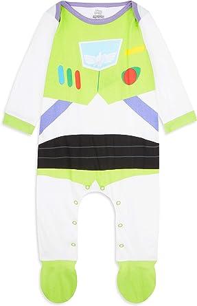 Disney Toy Story Ropa Bebe Niño, Pijama Bebe de Buzz Lightyear, Body Bebe 100% Algodon, Pijama Entero Niño, Regalos para Bebes Niño 0-18 Meses