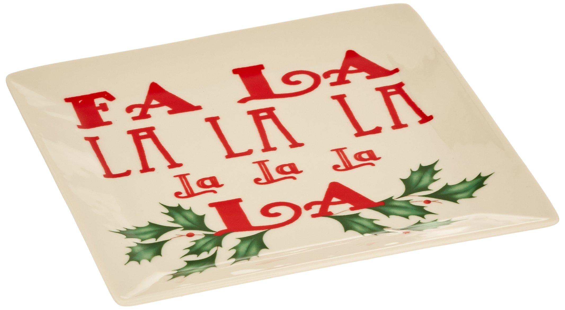 Lenox Square Tidbit Plate, Fa La La La La