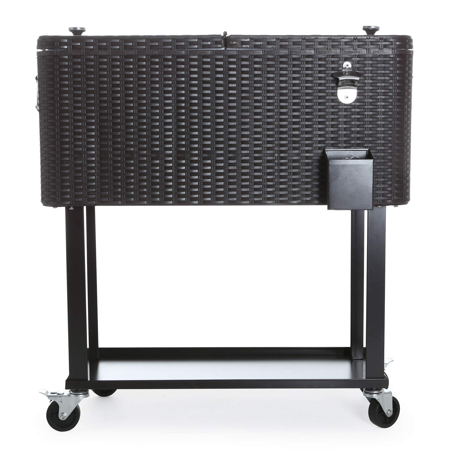 CAIDE-STORE with a Free Cover 80 Quart Outdoor Portable Cooler Patio Ice Chest Cooler Cart on Wheel by CAIDE-STORE (Image #3)