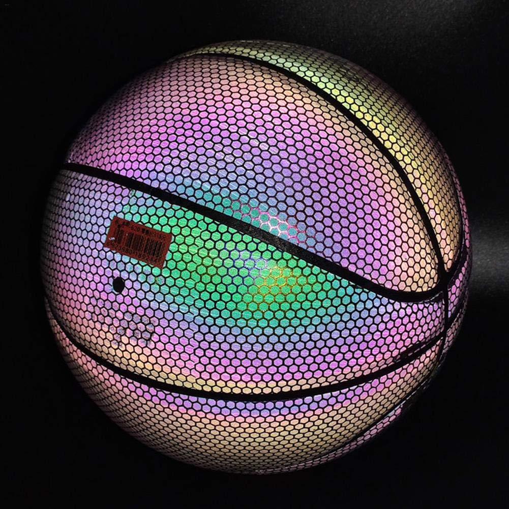 Pelota Para Hombre Muchacho Adolescente PU Sin Bater/ía Brillo En La Oscuridad Baloncesto Fluorescente Brillante talla 7 Baloncesto Reflectante Que Brilla Intensamente Baloncesto Iluminado Baloncesto