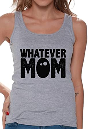 9a1c87b87bfc Awkward Styles Women s Whatever Mom Funny Graphic Tank Tops Black Mother s  Day ...